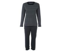 Capri-Pyjama schwarz / weiß