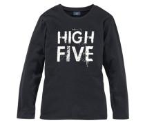 "Langarmshirt ""high Five"" für Jungen dunkelgrau / weiß"
