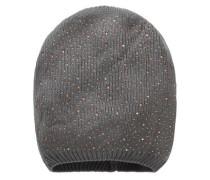 Mütze mit Strasssteinen grau