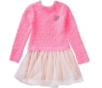 Kinder Strickkleid mit Tüllrock pink
