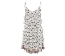 Kleid mit Volant weiß