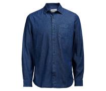 Langärmeliges Jeanshemd blau