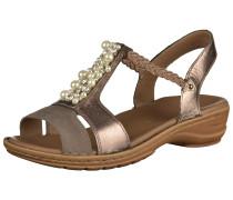 Sandale 'Hawaii' braun / gold