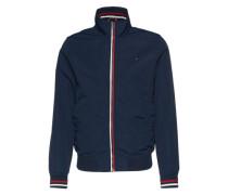 Jacke mit Stehkragen nachtblau / rot / weiß