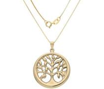 Kette mit Anhänger »Lebensbaum« gold