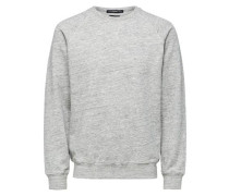 Crew-Neck-Sweatshirt grau
