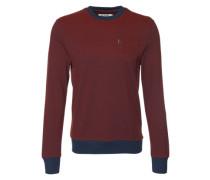 Sweatshirt mit griffiger Struktur rot