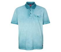 Poloshirt in Cold Pigment Dye hellblau