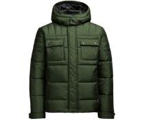 Gesteppte und Wattierte Jacke grün