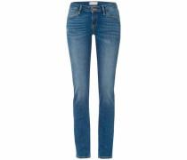 Stretch-Jeans blau