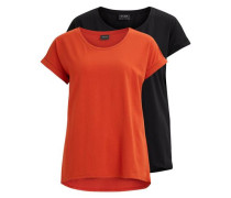 Einfaches T-Shirt 'vidreamers' - 2-pack