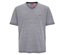 Meliertes Shirt im Layer-Look grau