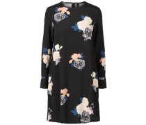 Kleid Blumen- schwarz