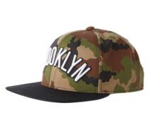 Cap im Camouflage-Look 'nba SNB Nets T' grün / mischfarben