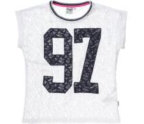 T-Shirt für Mädchen dunkelblau / weiß