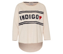 Sweatshirt 'Indigo chest' creme / navy / rot