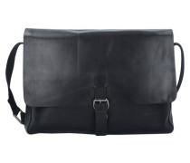 Scott Messenger Tasche Leder 35 cm Laptopfach schwarz