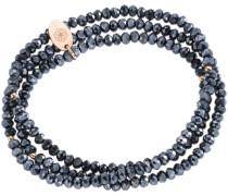 Armband zum Wickeln mit Kristallsteinen dunkelblau / rosegold
