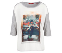 Shirt mischfarben / grau / weiß
