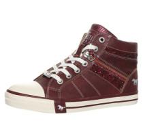 Sneaker mit Glitzerdetails bordeaux