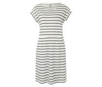 Kleid mit Streifenmuster blau / weiß