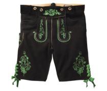 Hose 'Rupert' grün / schwarz