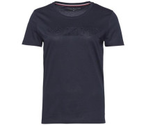 T-Shirt 'tommy Embossed TEE SS' nachtblau