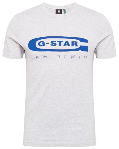 T-Shirt 'Graphic 4' blau / hellgrau