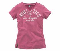 T-Shirt mit Frontdruck pink