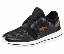 Sneaker 'w-300' cognac / schwarz