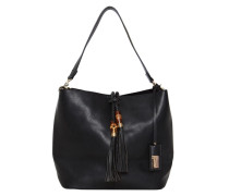 Handtasche mit Quasten schwarz