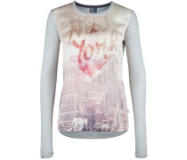 Longsleeve MIT New-York-Skyline grau