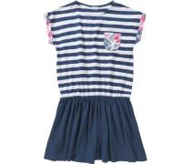 Kinder Jerseykleid dunkelblau / hellpink / naturweiß