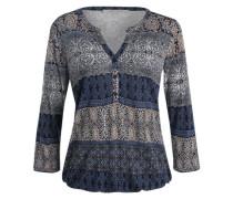 Bluse mit Paisleymuster blau / grau