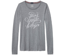 Homewear »Lulu shimmer cn tee ls« grau