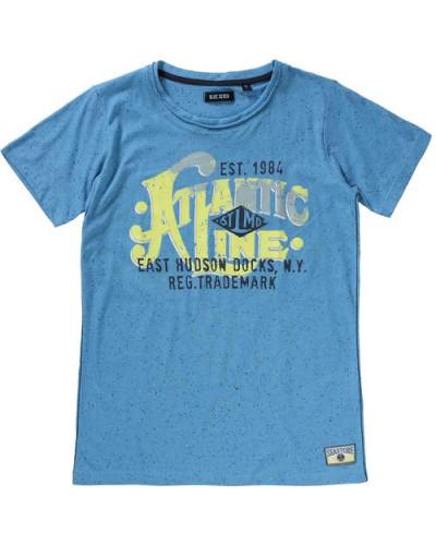 T-Shirt marine / himmelblau / gelb