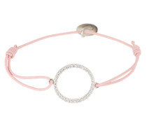 Armband 'Circle of Life' rosa / silber