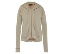 Sweatshirtjacke mit Kapuze khaki