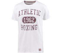 T-Shirt burgunder / weiß