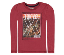 T-Shirt langärmlig Sportiver City Print rot