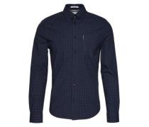 Hemd mit Karo-Muster dunkelblau / schwarz