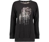 Sweatshirt 'LW Peaceful Pines' schwarz / weiß