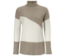 Oversized-Pullover mit Strickmix ecru / sand