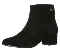 Stiefelette in Velours-Leder schwarz