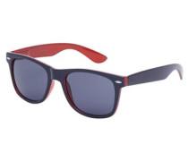 Klassische Sonnenbrille dunkelblau / rot