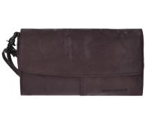 Bronco Clutch Tasche Leder 245 cm dunkelbraun