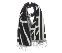 Oversize Schal 'Antonini scarf' schwarz / weiß