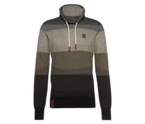 Pullover grau / schlammfarben / schwarz
