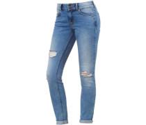 'Nela' Skinny Fit Jeans Damen blue denim