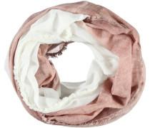Baumwoll-Loop rosé / weiß